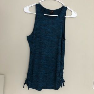 G by Guess Blue Tank Top with Cinching on the side